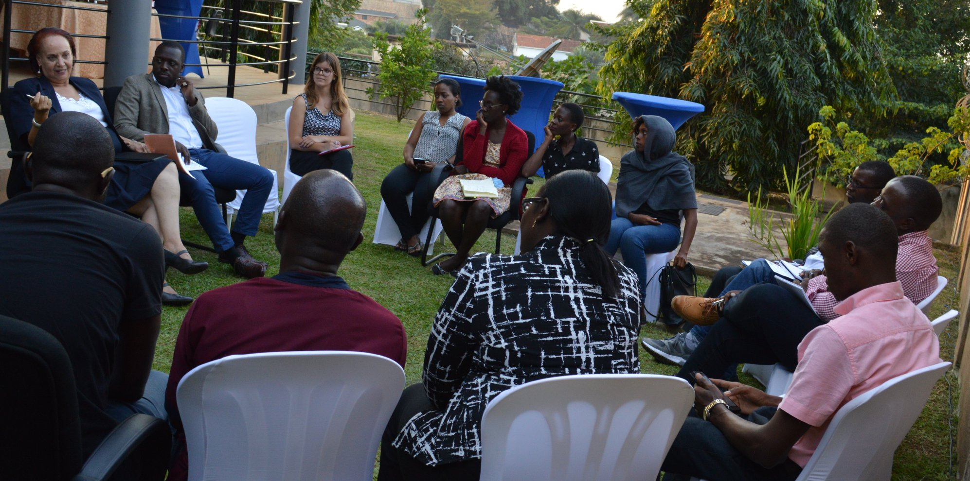 An Evening with Maggie Kigozi, Charles Mwangusha and our Fellows